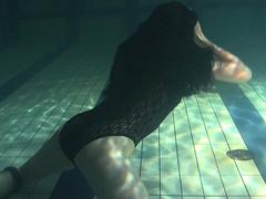Polcharova stipping and enjoying underwater swimming
