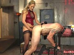Cherie Deville Pegging Submissive Dude
