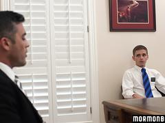 MormonBoyz - Handsome priest barebacks a young virgin missionary
