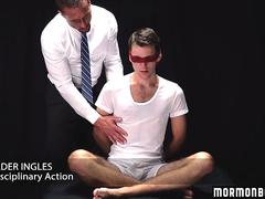 MormonBoyz - Hot teen seduced by daddy while blindfolded