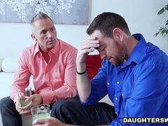 DaughterSwap - Two Dads Release Stress By Fucking Hot Daughters