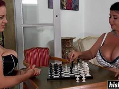 Joanna and Natalie munch each other is tits