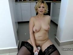 Hot Sexy Blonde Hooker Has Fun With Hitachi