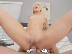 Tiny4k Hazel eyed tiny blonde Elsa Jean big dick deep pounding