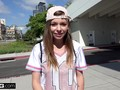 Tomboy teen Alex Blake POV fuck in a car