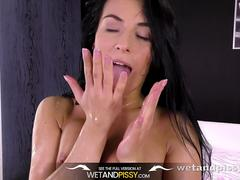 Piss Drinking - Gorgeous Lexi Dona tastes her pee during playful solo scene