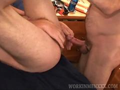 Mature Amateurs Dan and Dillon With Dildo