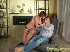 Dane Jones Cock loving petite redhead likes to ride a big cock deep