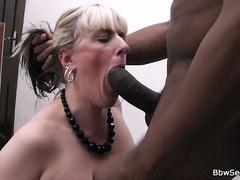 Black husband caught cheating with blonde bbw