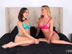 Cherie DeVille and Jenna Sativa Are Two Naughty Lesbians