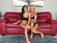 Heather Vahn and Sarah Jessie are Two Fit Lesbian Babes