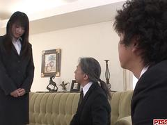 Old males smacking Kotomi Asakura young holes in hardcore - More at Pissjp.com
