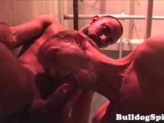 Hunky dom assfucking british stud doggystyle