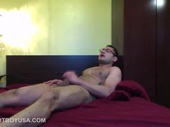 Muscular and Hairy Young Josh Jerks Off