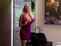 MILF Brandi Love caught her stepdaughter Carter Cruise masturbating