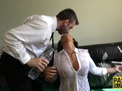 Throated sub gets pounded