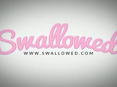 SWALLOWED Face fucking tiny blonde Ivy Wolfe