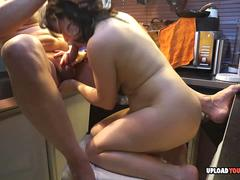 Amateur wife gives a great blowjob after shagging