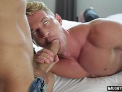 Muscle gay anal with facial cum