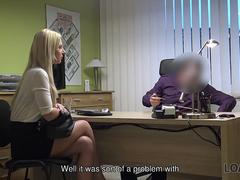 LOAN4K. Hot chick Nathaly fucked hard in order to pay for her debts