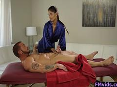 Hot masseuse Katya Rodriguez fucked by client