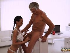 Old cuckold bisexual Finally shes got her manager dick