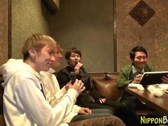 Japanese twink foursome