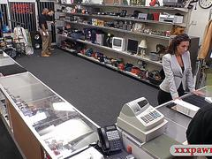 Nasty lady banged by nasty pawn keeper in the pawnshop