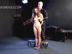 Disobedient but beautiful girl harshly punished