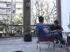 Cafe date leads to kitchen gay smut