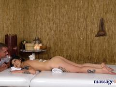 Massage Rooms Big booty tattooed Uzbek babe Akasha Coliun covered in oil