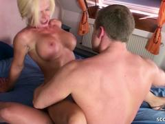 German Step Mom Nadja fuck with Young Guy After Family Party