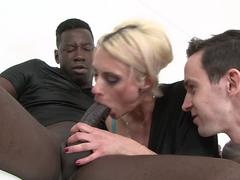 Neighbour's black cock in my wife's pussy