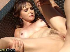 Seductive MILF beauty drilled by her stepson