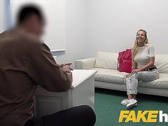 Fake Agent Busty czech babe loves fingering and fucking on casting couch