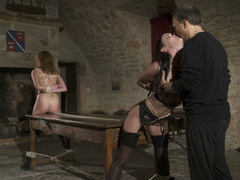 Two subs enjoy pain and pleasure