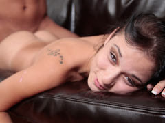 LatinFixation Tight brunette Mandy Sky sucks and fucks like a good slut