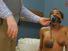 Rough anal punishment for degraded black girl