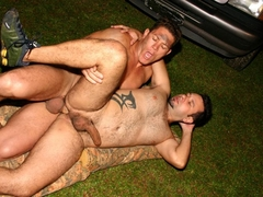 Gay Hunk Stud Pounding Tight Ass Outdoor