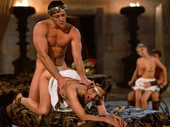 Tchanka and Vanessa Virgin Having Anal Sex in the Roman Bacchanal