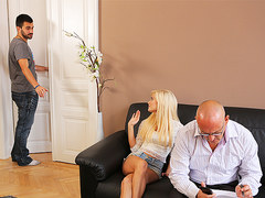 DADDY4K. Mature guy embarks spontaneous sex with winsome young...